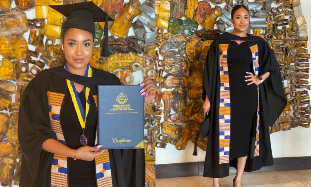 Ex-beauty Queen, Anna Banner, finally becomes a university graduate (Photos)