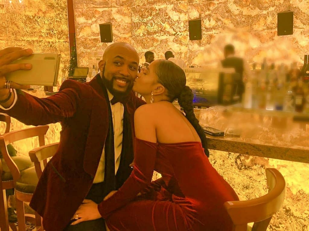 Banky W and Adesua Etomi melts fans heart with their romantic wedding anniversary messages (Video)