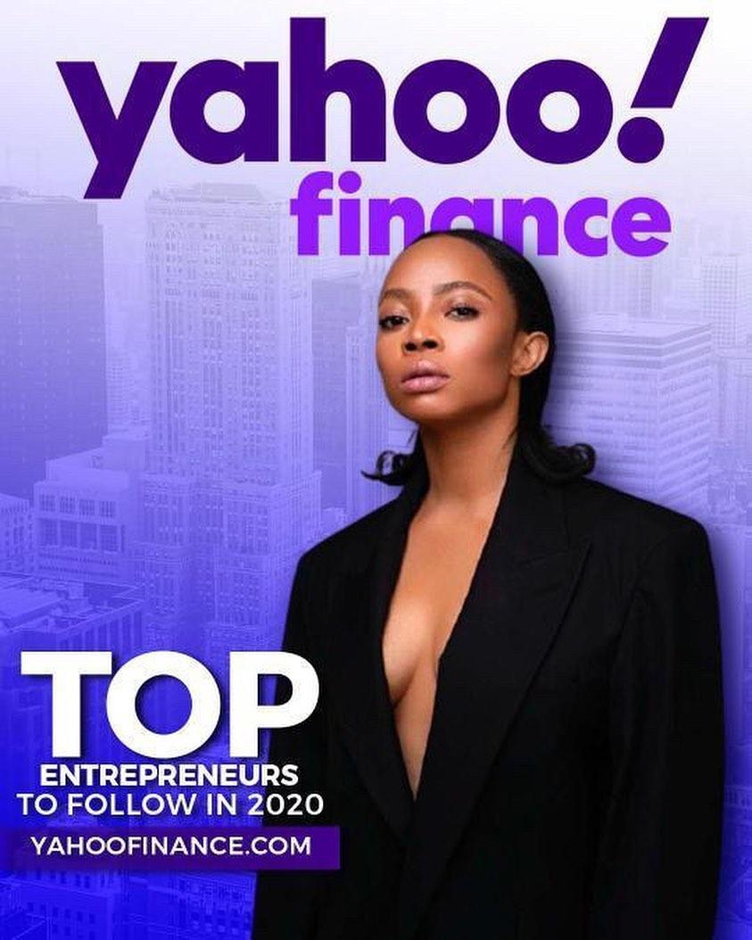 Toke Makinwa tops Yahoo Financial List of Entrepreneur to follow in 2020 (Photos)