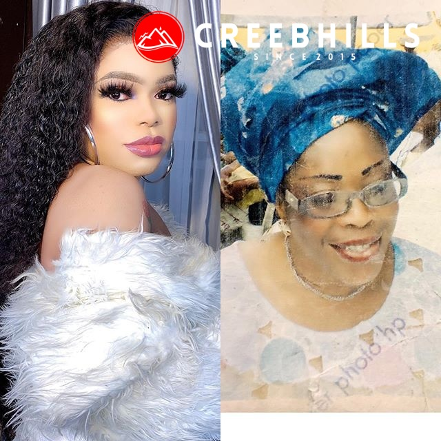 Bobrisky weeps profusely as he remembers his late mum while on the sick bed (Video)
