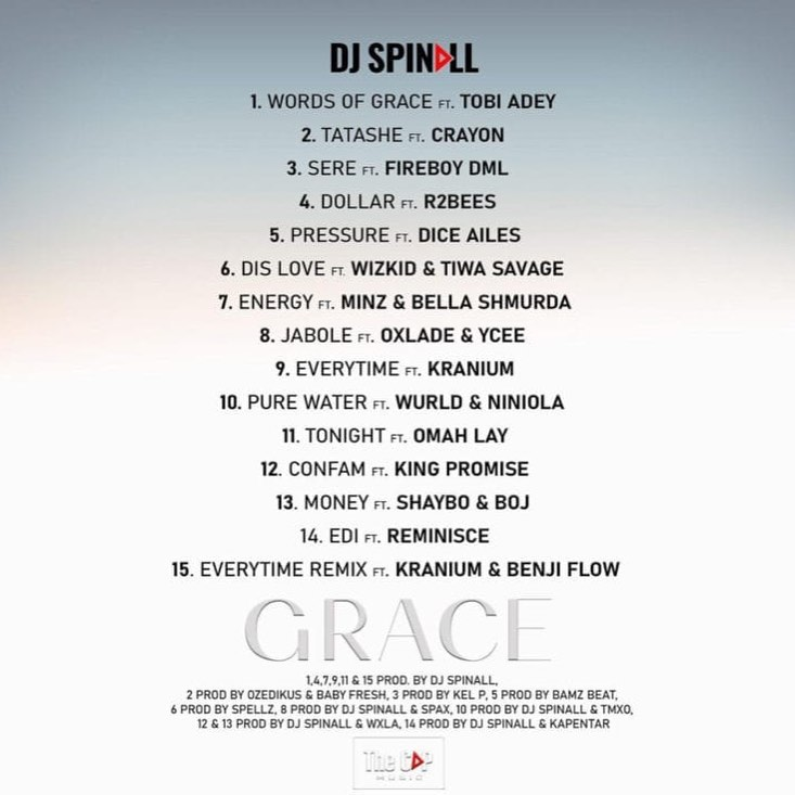 """DJ Spinall announces tracklist to his yet to be released 5th Studio Album, """"Grace"""" (Photos)"""