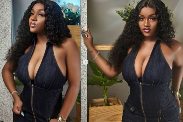 Davido's fiancee, Chioma Rowland flaunts cleavage in new sexy photos