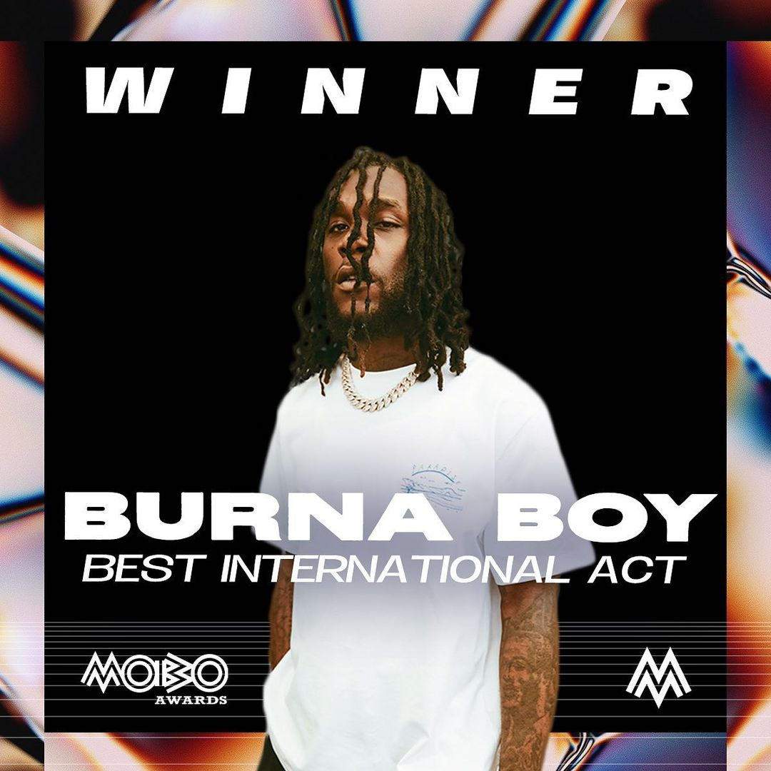 MOBO2020: Wizkid and Burna Boy win big as Davido lose out ( Full list of winners)