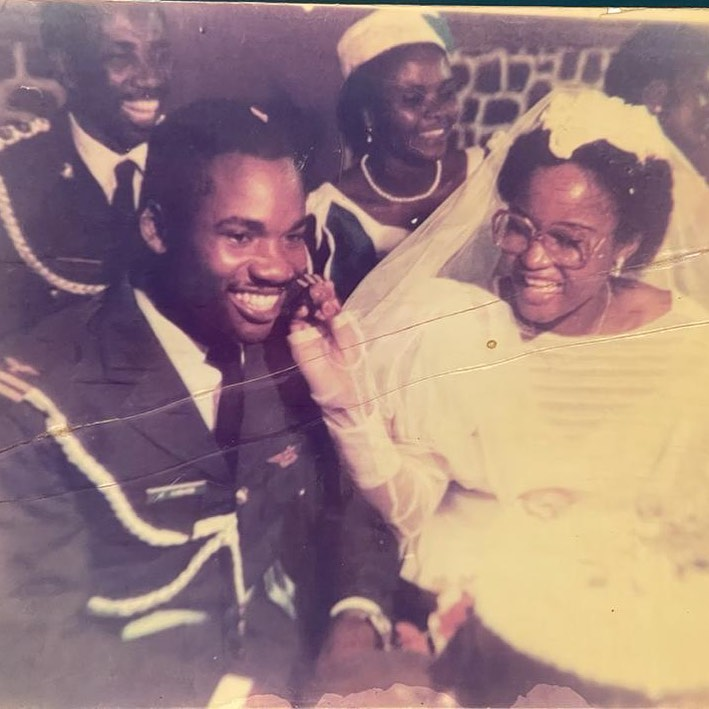 Mr Eazi gush about his parents beauty on their 38th wedding anniversary (Photo)