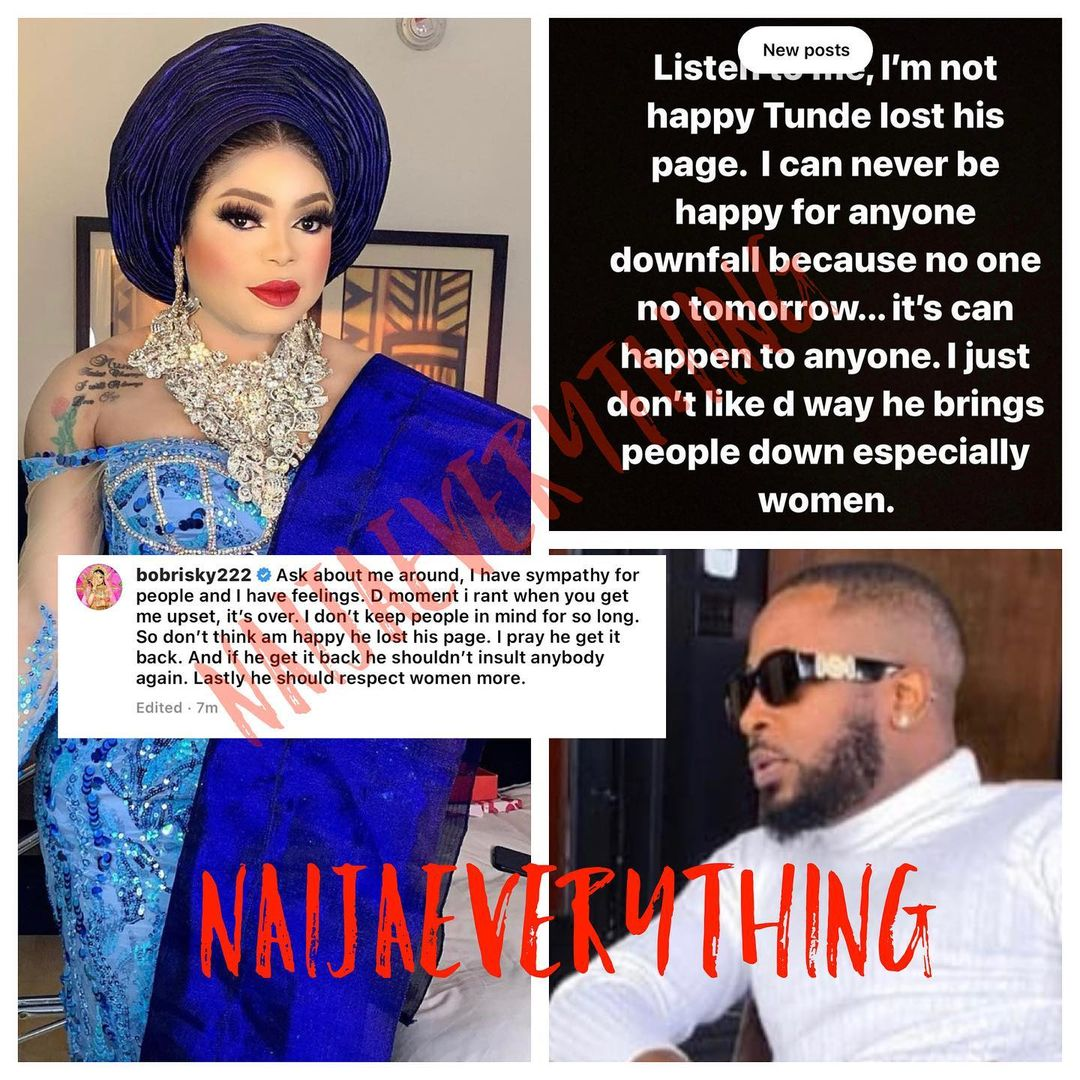 I M Not Happy Tunde Ednut S Ig Page Was Deleted Heartbroken Bobrisky Says The shade room of africa. i m not happy tunde ednut s ig page was