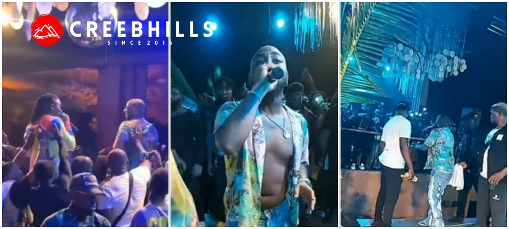 Moment Davido and Stoneboy shutdown active party in Ghana (Video)