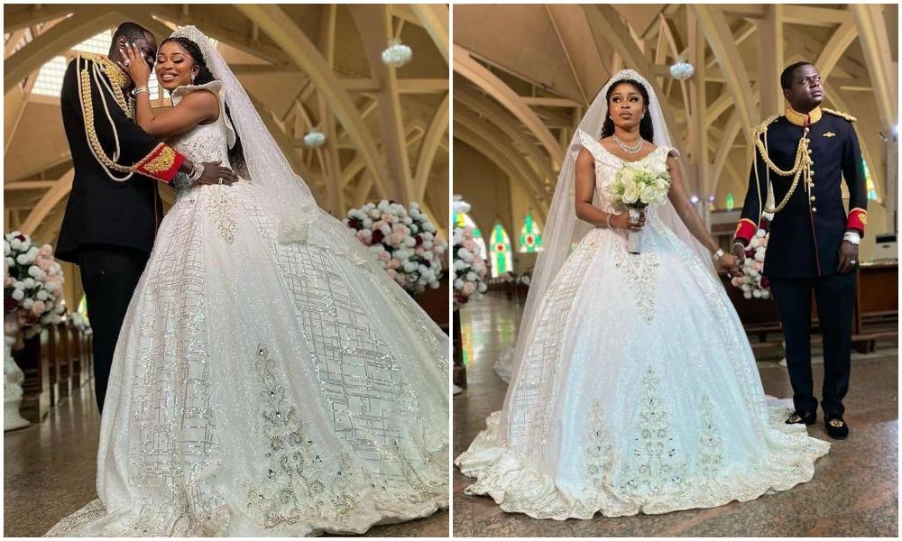My wife's wedding dress has over 560 carats of Swarovski Diamond – Malivelihood brags (Photos)