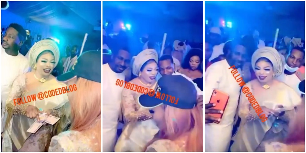 Watch how men struggle to take pictures with Bobrisky at an event (Video)