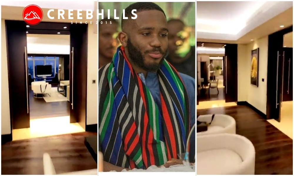 #BBNaija: Kiddwaya arrives in Dubai, shows of his luxurious crib (Video)