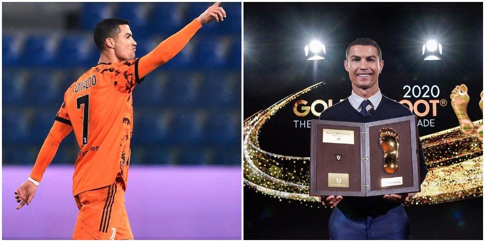 Cristiano Ronaldo wins 2020 Golden Foot Award (Photos)