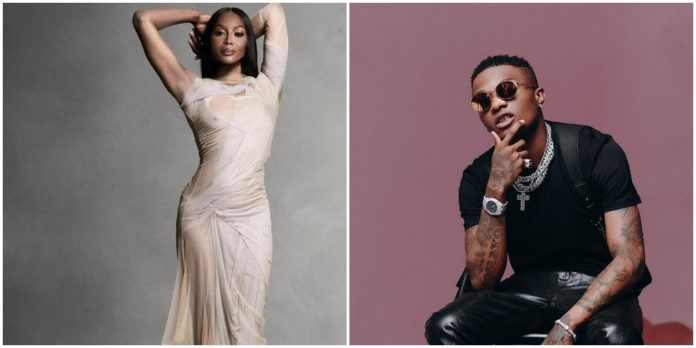 Watch Wizkid perform 'Ginger' while Naomi Campbell walks the runway (Video)