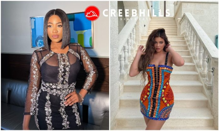 #BBNaija: Star girl Erica spotted rocking billionaire Kylie Jenner's dress (Video)
