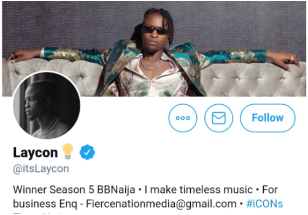 #BBNaija: Kiddwaya and Laycon gets verified on micro blogging site, Twitter (Screenshot)