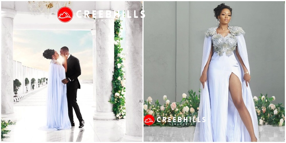 #BBNaija: Khafi finally walk down the aisle with Gedoni, shares their wedding photos
