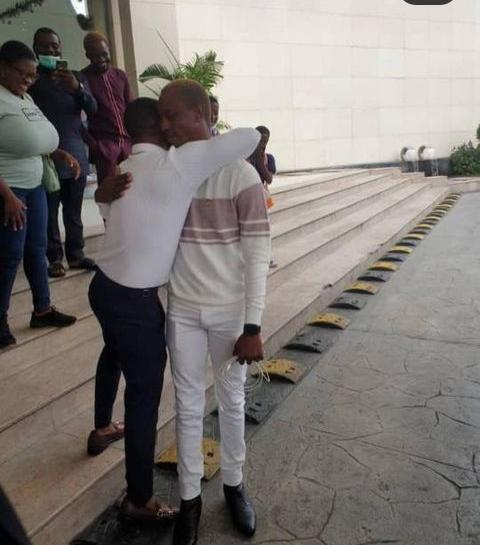 Korede Bello surprises his manager of 10-years with a brand new car (Photos)