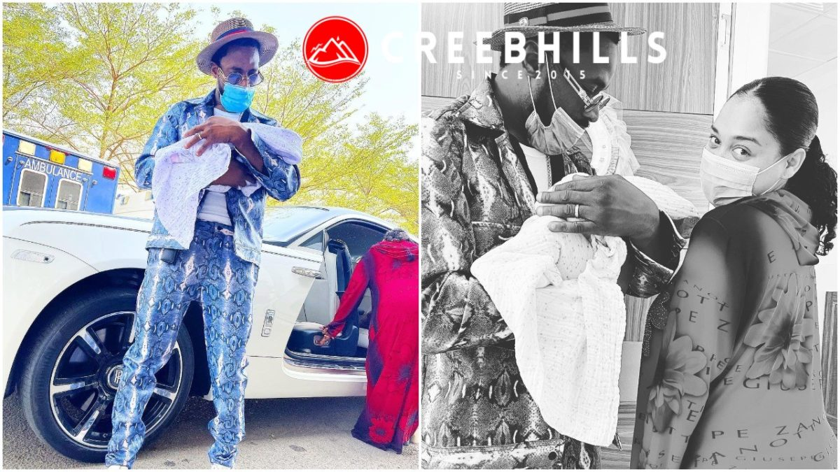 Dbanj and his wife Lineo, welcomes their newborn daughter home (Photos)