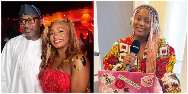 DJ Cuppy reveals the deep secret her father, Femi Otedola tells her about money