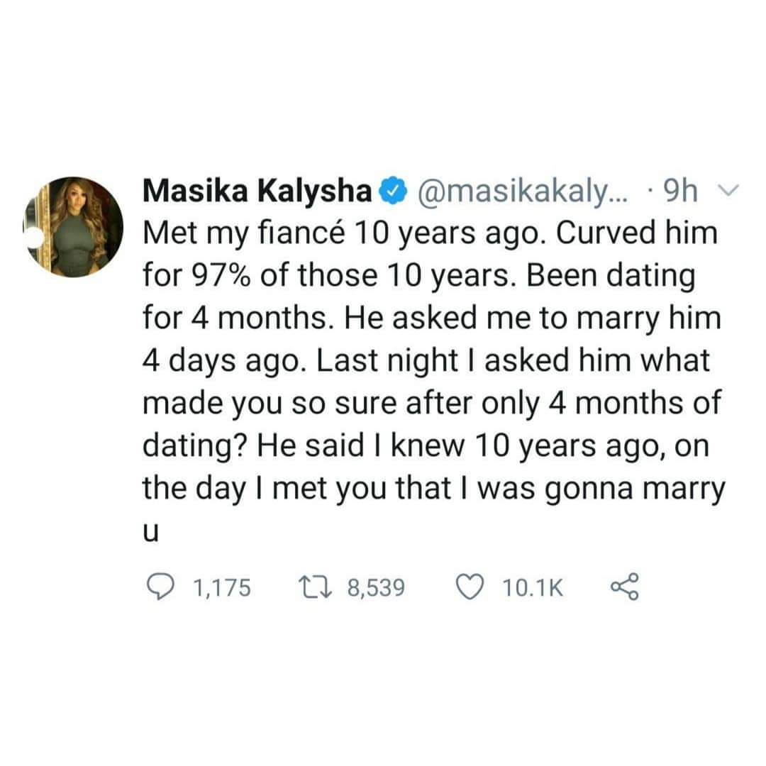 Love & Hip Hop star Masika Kalysha calls off her engagement