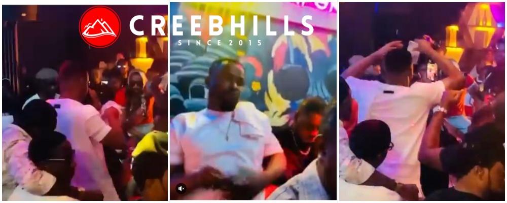 Watch actor Zubby Michael rain cash on Cubana Chief Priest at his night club (Video)