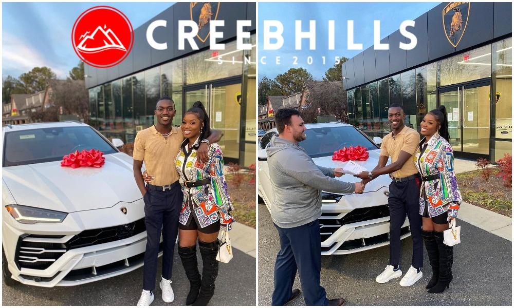 Popular businessman Boniface Ogunti gifts girlfriend a brand new Lamborghini (Photos)