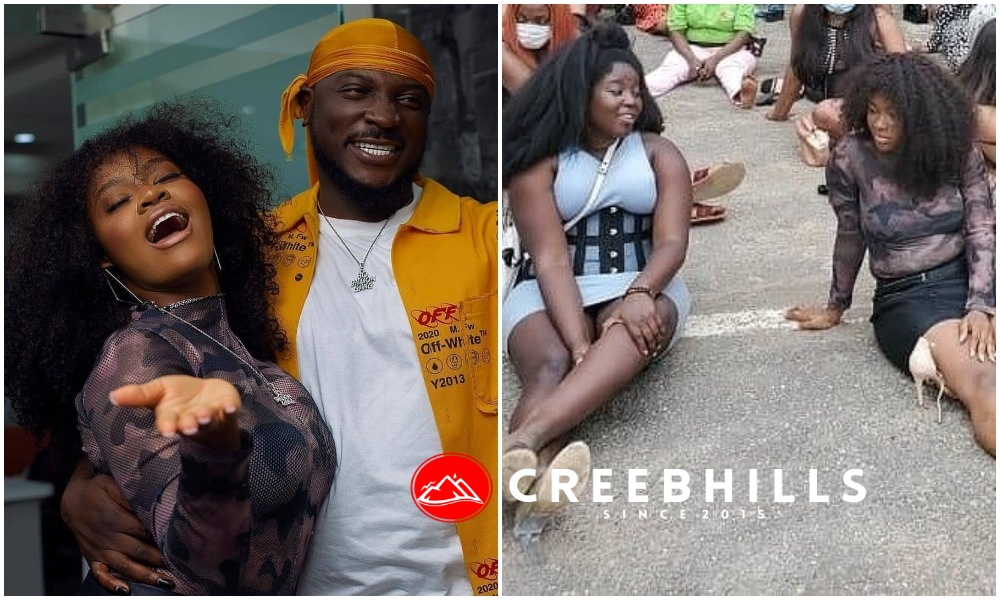 Davido's signee Liya spotted amongst those arrested for violating COVID-19 protocol (Photos)