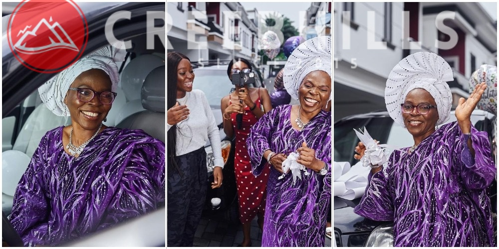 Media Personality Tomike Adeoye rewards her supportive mum with a car (Photos)