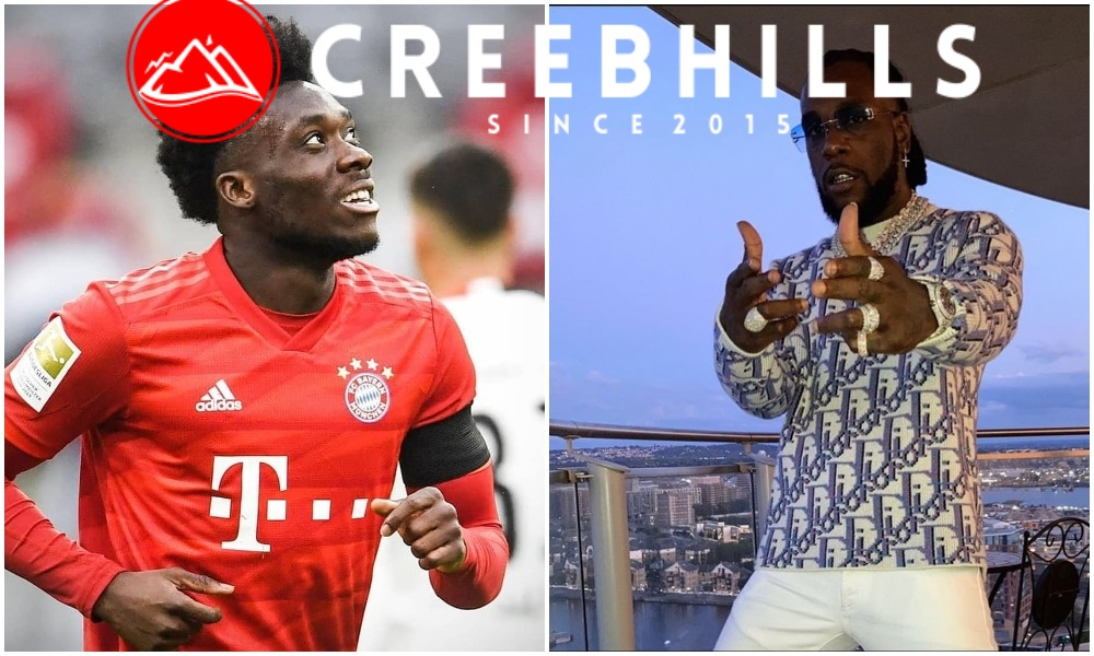 Burna Boy over the moon as Bayern Munich star, Alphonso Davies uses his song as a soundtrack (Video)