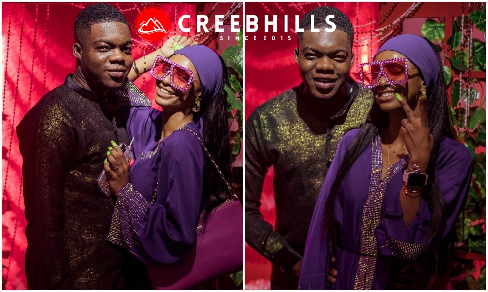 Comedian Cute Abiola and engaged girlfriend Adeherself stuns out in grand style (Photos)