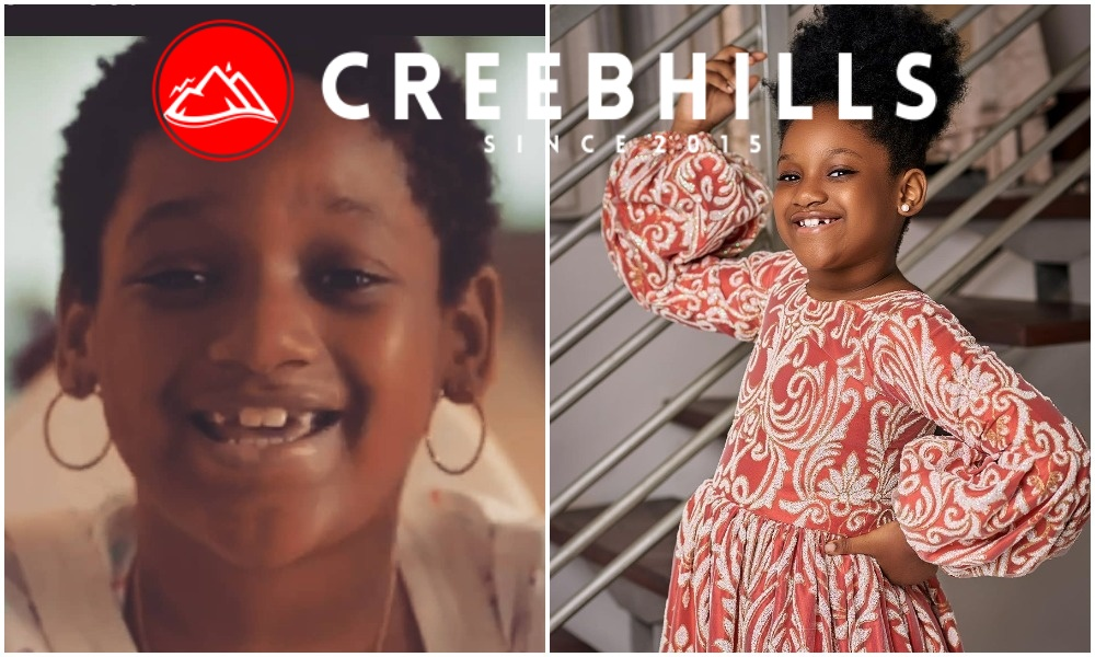 """She don use teeth buy akara"" – 2Face Idibia mocks daughter, Olivia as she clocks 6 (Photo)"