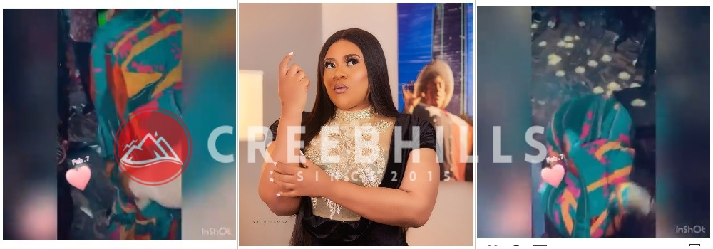 Actress Nkechi Blessing publicly twerks for her new boyfriend at an event (Video)