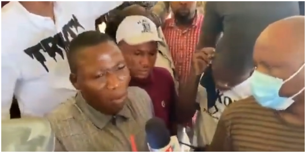 Yoruba activist Sunday Igboho blows hot about herdsmen as he arrives in Ogun state (Video)