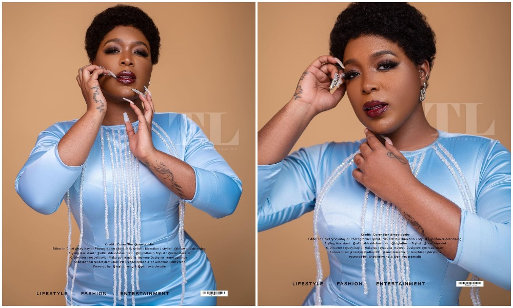 Sexy Radio Goddess Moet Abebe covers the latest edition of Taylorlive magazine (Photos)