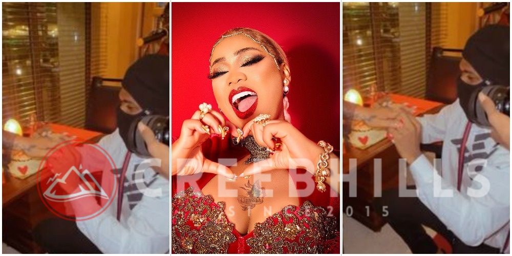 """The King of all queens is taken"" – Toyin Lawani gets engaged to her long time photographer boyfriend (Video)"