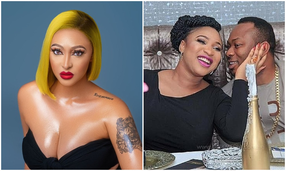 Tonto Dikeh's ex husband, Olakunle Churchill introduces actress Rosy Meurer as MRS CHURCHILL