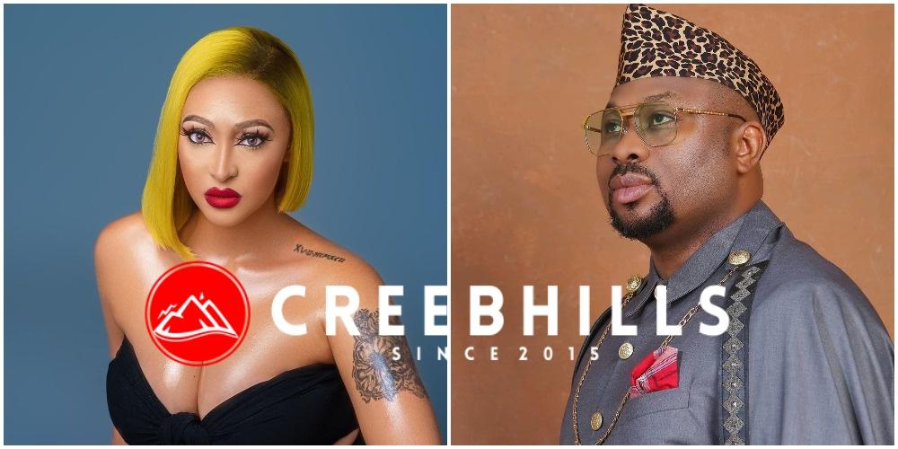 """""""I value you"""" – Rosy Meurer heaps praise on Olakunle Churchill despite backlash from fans (Video)"""