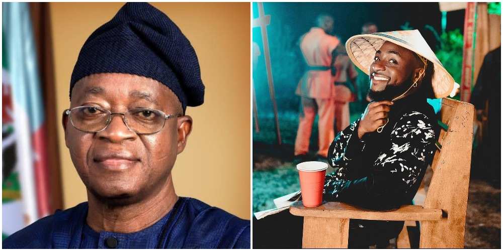 Davido reacts to Governor Oyetola's plans for Osun state on road infrastructure