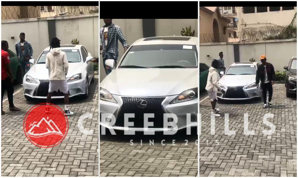 See Laycon's reaction upon seeing Joeboy's new multi-million naira Lexus car (Video)