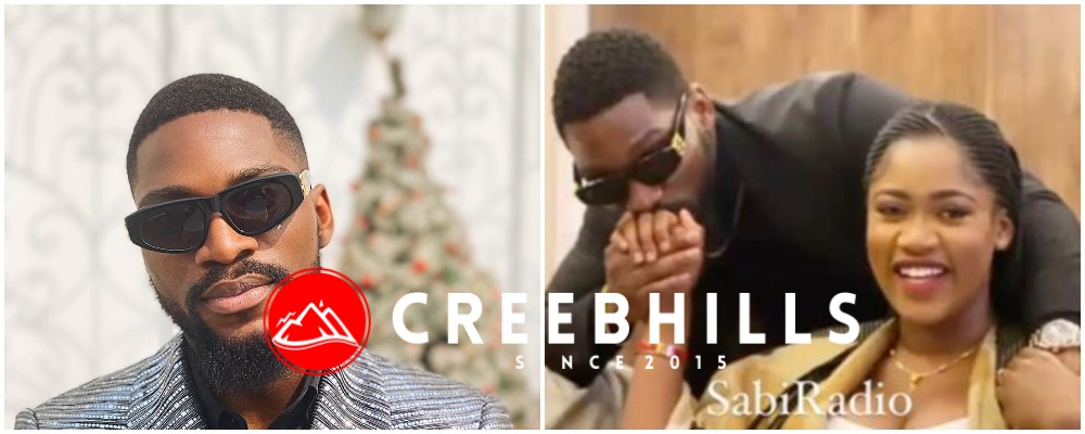 BBNaija's Tobi Bakre finally unveils fiance, Anu Oladosu with his full chest (Video)