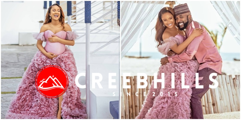 Celebrity couple Adesua Etomi and Banky W welcomes adorable baby boy (Photos)