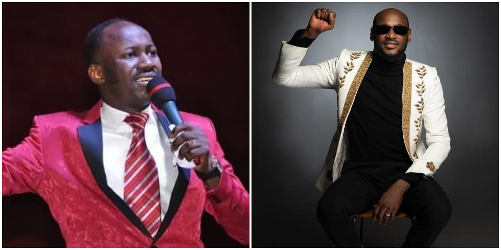 2Face shades Apostle Suleiman claims of making money through speaking in tongues (Video)