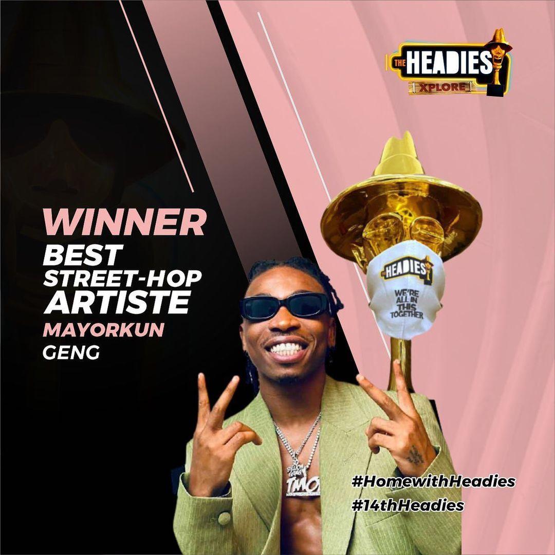 CDQ drags Headies for giving Mayorkun Best Street Hop Artiste award ahead of Naira Marley