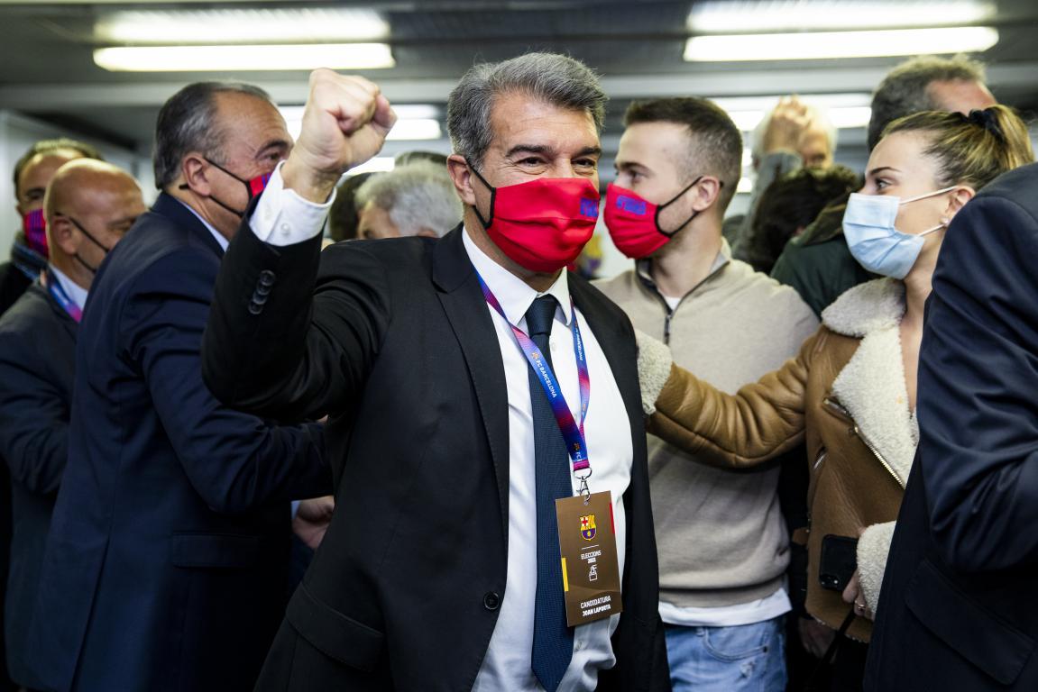 Joan Laporta becomes Barcelona's 41st President