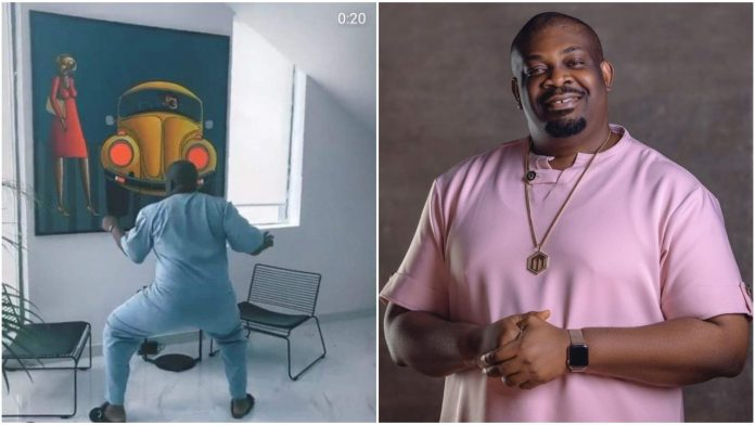 Moment Don Jazzy Twerks to Rema's song, 'Bounce' (Video)