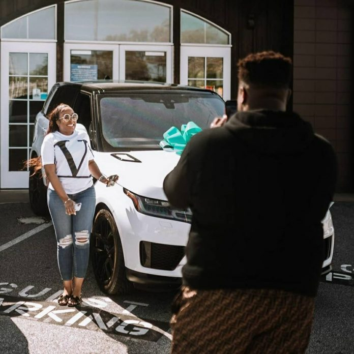 Davido's brother, Adewale, buys his wife, Kani, a 2021 Range Rover as Push Gift (Photos/Video)