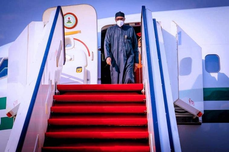 President Mohammad Buhari returns to Nigeria
