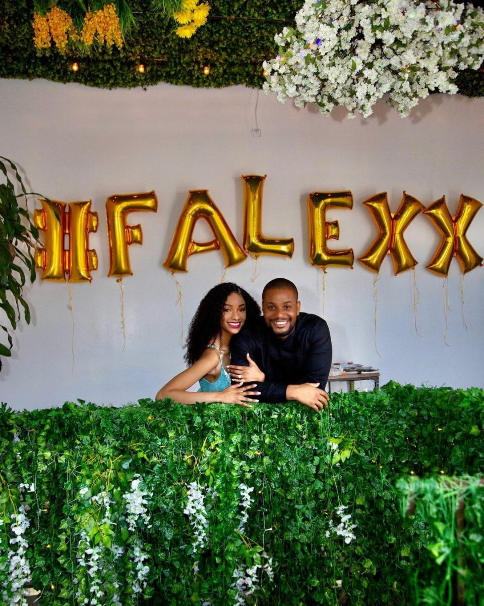 Actor Alex Ekubo gets engaged to his girlfriend, Fancy Acholonu (Photo)