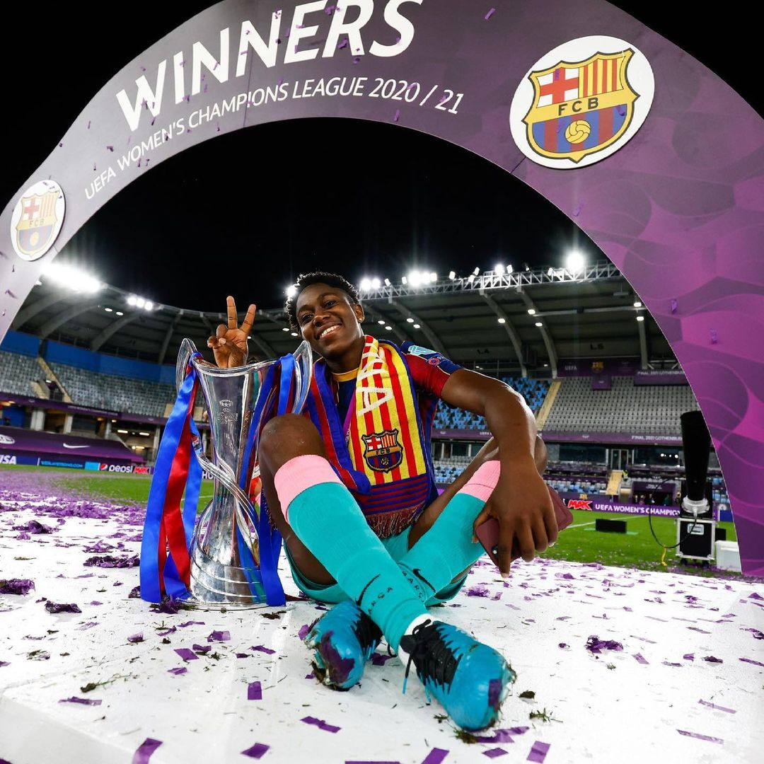 PHOTOS: Asisat Oshoala becomes first African woman to win ChampionsLeague