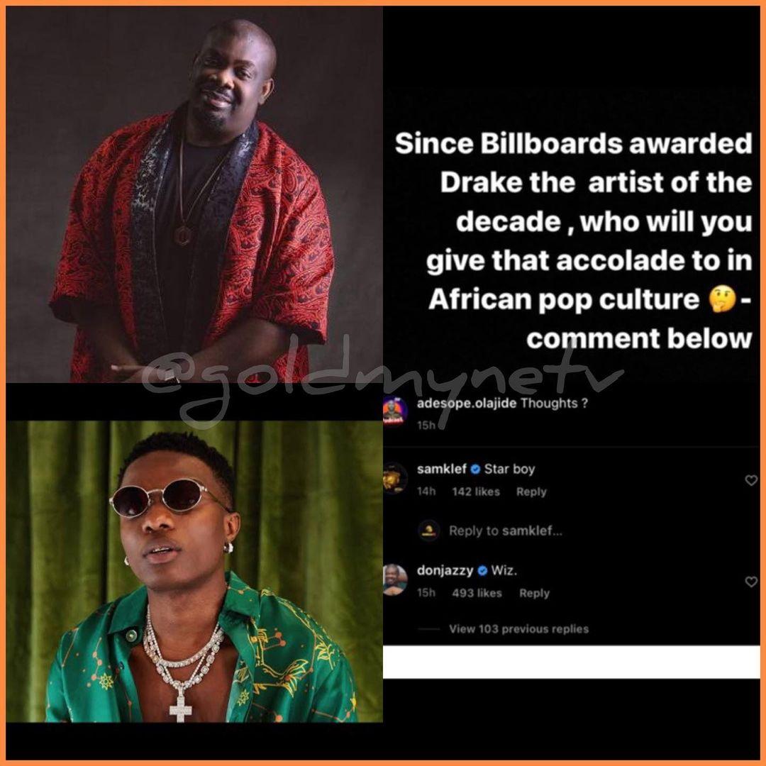 Wizkid is African Artist Of The Decade – Don Jazzy declares