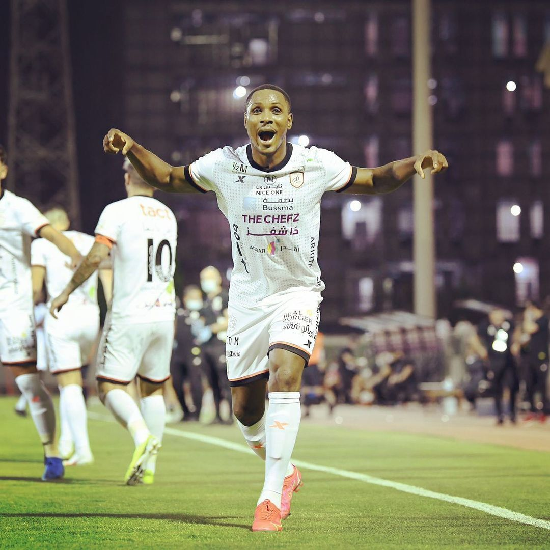 Odion Ighalo shares excitement as his mother watch him play live for the first time (Video)