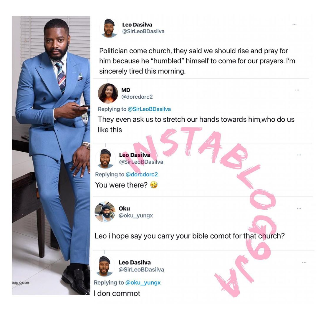 Leo Dasilva storms out of church after Pastor asked congregants to pray for a politician